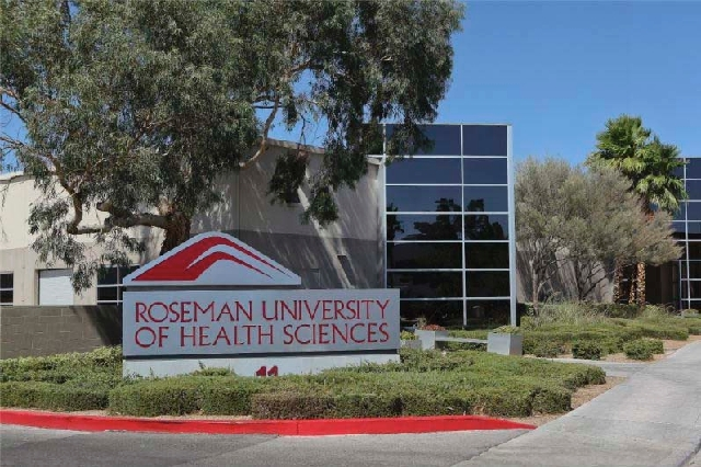 This photo of Roseman University's college in Las Vegas appears on the school's Facebook page.