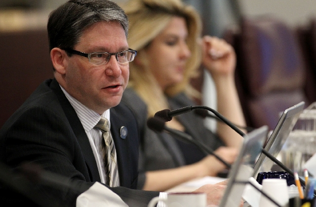 Assemblyman Andrew Martin of Las Vegas is one of five openly gay lawmakers in the Nevada Legislature. All are Democrats and all are from Southern Nevada.