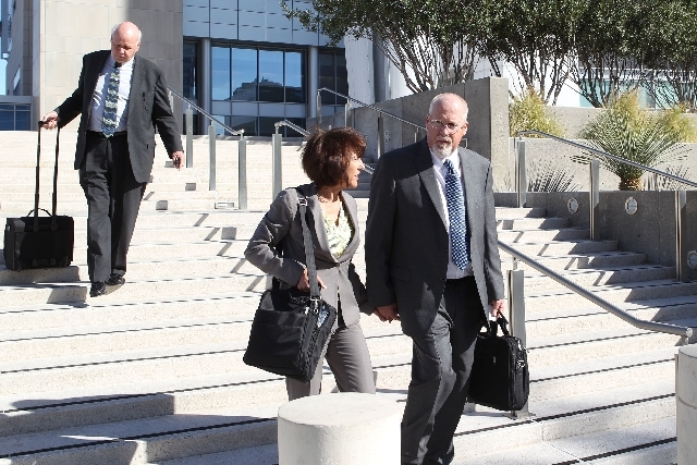 A federal judge in Reno Thursday temporarily halted the trial of Harvey Whittemore, shown here in April in Las Vegas, after being told that a juror may have made an inflammatory comment about the  ...