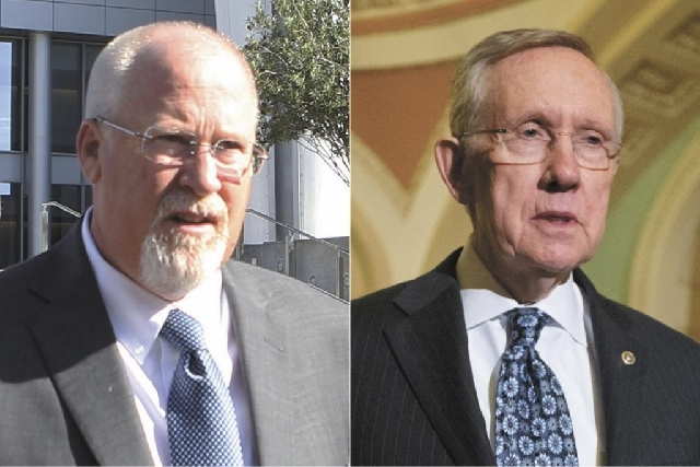 Harvey Whittemore, left, and U.S. Sen. Harry Reid, D-Nev., are shown in file photos. The jury began deliberating Tuesday afternoon in Whittemore's trial on allegations of illegal campaign contribu ...