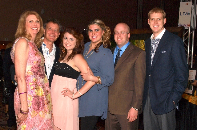 Sandee Tiberti, from left, Jelindo Tiberti, Elisa Tiberti, Courtney Forgey, Aaron Forgey and Angelo Tiberti at the JDRF gala