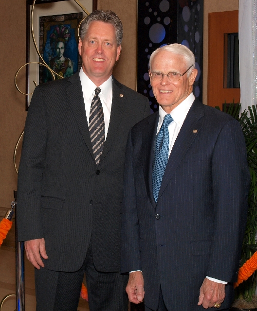 Jim Ness, left, and Don Freeman at the CSN Foundation gala