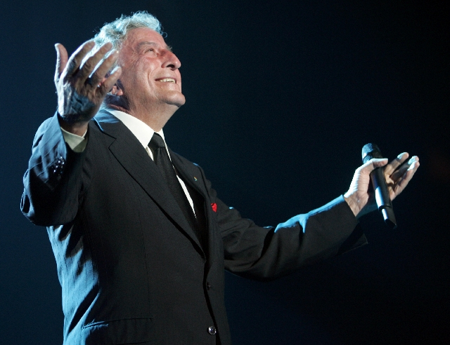 Tony Bennett is scheduled to perform today at Caesars Palace.