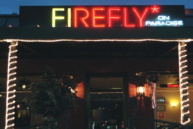 The Firefly restaurant reopened Friday at the former location of Z'Tejas, 3824 Paradise Road. The old location, shown here, closed after a salmonella outbreak in late April sickened nearly 300 people.