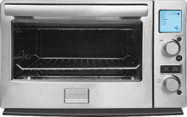 Frigidaire Professional's new line of small appliances includes an infrared, convection toaster oven that eliminates preheating time and cooks items quicker.