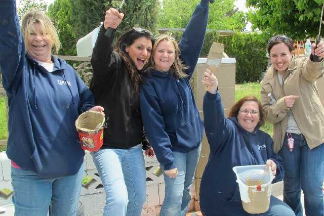 Team Ford Lincoln's Habitat for Humanity team includes, from left, Dona Kennedy, Carla Dalba, Melanie Cox, Rachel Arvelo and Sue Walton-Robertson.