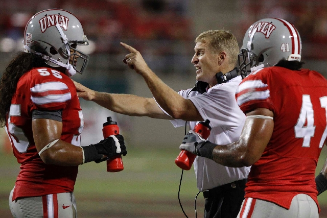 UNLV, led by coach Bobby Hauck, is in talks with the University of Arizona to move its home opener on Sept. 7 at Sam Boyd Stadium to Glendale, Ariz. If the game is moved to Arizona, the Rebels wou ...