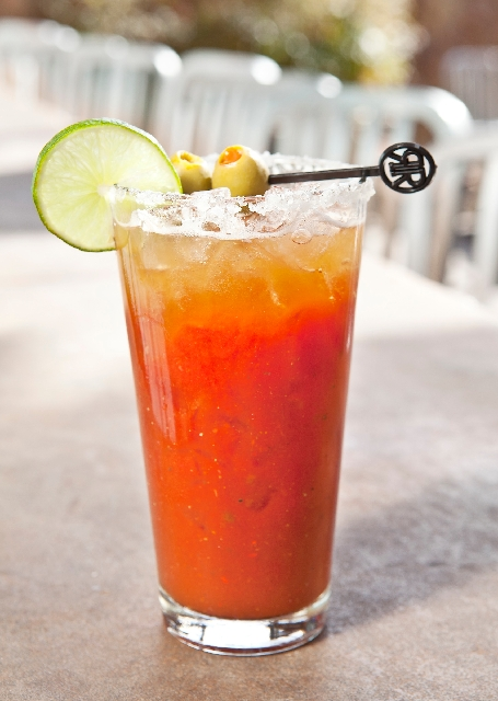 The Longhorn Bloody Mary at the RoadRunner, 921 N. Buffalo Drive and 9820 W. Flamingo Road, features Tito's Handmade Vodka and spicy bloody mary mix topped with a float of Shiner Bock draft beer ($7).