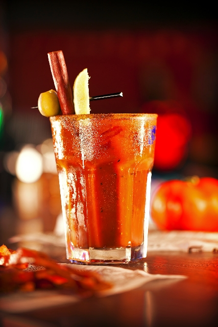 You Dirty Tomato at Slice of Vegas in Mandalay Place, 3930 Las Vegas Blvd. South, features Bakon Vodka and Sin City bloody mary mix combined and served with a pepperoni straw ($11.95).