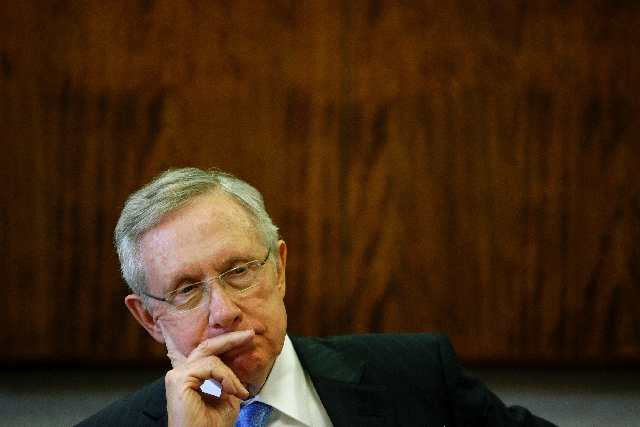 Sen. Harry Reid, D-Nev., on Friday described a proposal for a sports arena plan in Henderson as a scam.