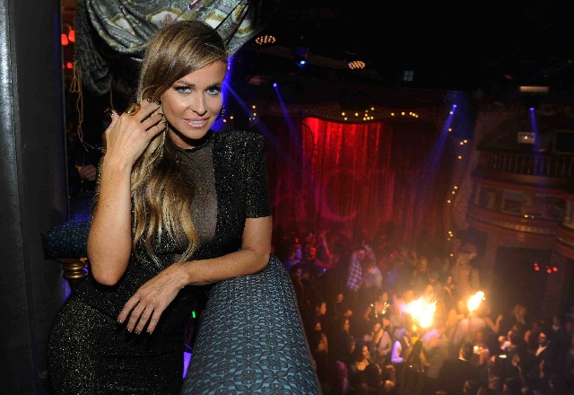 """Carmen Electra, shown at the New Year's Eve celebration at Palazzo, says her new song is """"about standing up for yourself.'"""