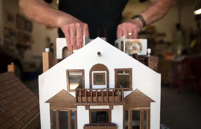 Bill Hornecker has been working on minature houses ever since he retired.