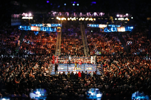 Floyd Mayweather fights Robert Guerrero in their WBC Welterweight Title bout at the MGM Grand in Las Vegas Saturday.