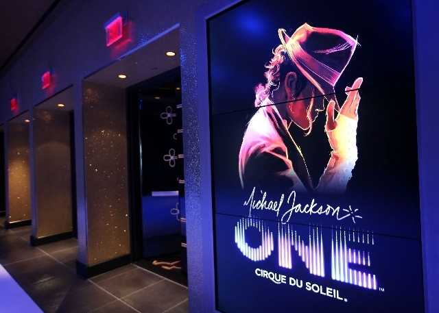 """The entry leading into Cirque du Soleil's """"Michael Jackson One"""" show at Mandalay Bay Resort and Casino is seen in Las Vegas on May 7, 2013."""