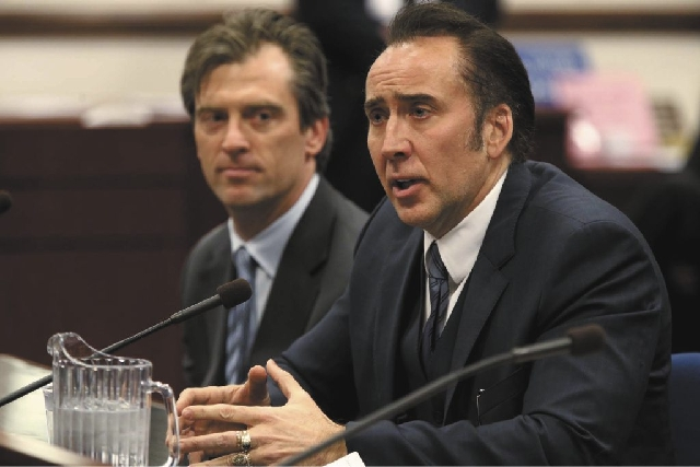 Actor Nicolas Cage testified in support of a bill proposing tax incentives to filmmakers at the Legislative Building Carson City, Nev. on Tuesday. Proponents of the measure say it will bring jobs  ...