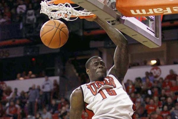 Anthony Bennett, who is leaving UNLV after one season to enter the NBA Draft, dunks against Air Force at the Thomas & Mack Center in Las Vegas on January 12.