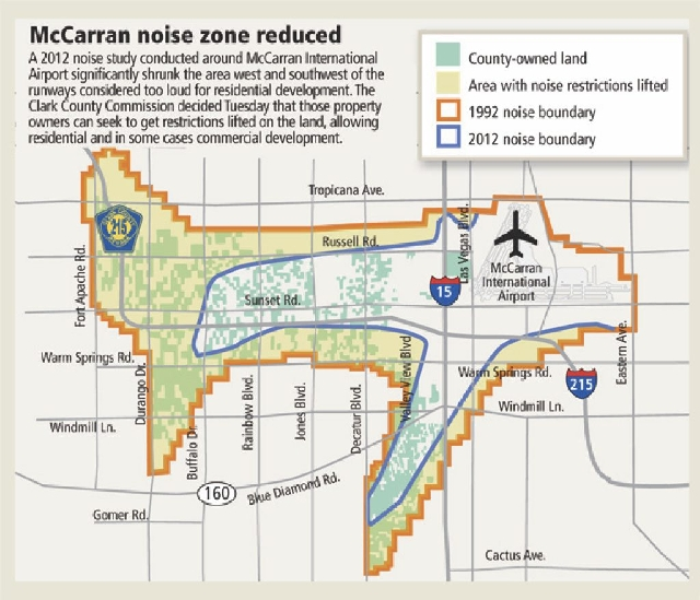 Land Use Restrictions To Ease Near McCarran International Airport - Las airport map