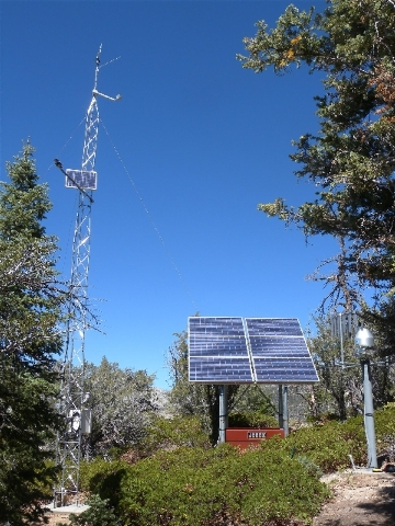Climate-monitoring stations like this one are helping researchers track how climate change affects the Nevada landscape.