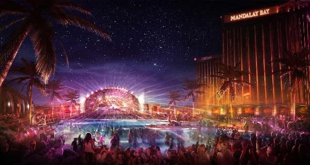 Eclipse, a 50,000-square-foot, nighttime pool party, is set to open at Mandalay Bay. The Daylight Beach Club will use the space by day.