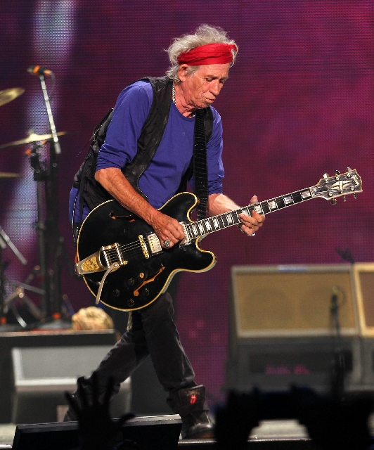 Rolling Stones guitarist Keith Richards performs Saturday at the MGM Grand Garden.