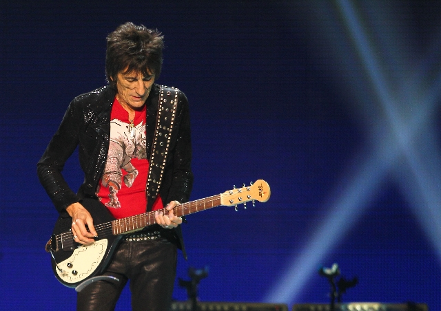Rolling Stones guitarist Ronnie Wood performs Saturday at the MGM Grand Garden.