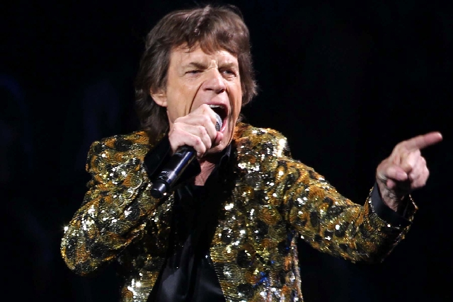 Rolling Stones frontman Mick Jagger performs Saturday at the MGM Grand Garden.