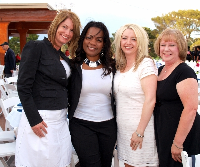 Gerd Peters, from left, Shafonda Green, Melissa McCoy and Marcia Barber