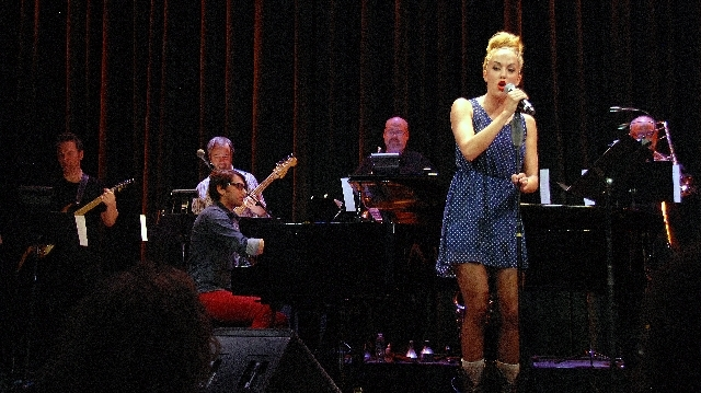 """Singer Savannah Smith and composer Christopher Lash at the piano are featured in """"Putting on a Show."""""""