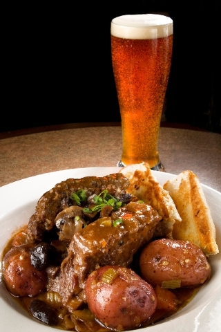 Royal Red Lager-braised short ribs