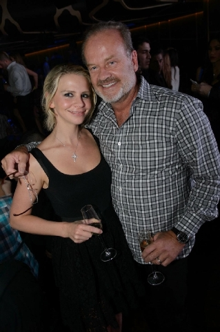 At Hakkasan on Saturday: Kelsey Grammer with wife Kayte Walsh.