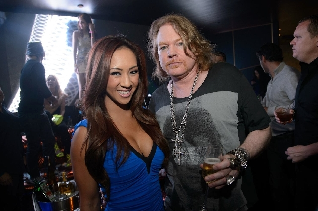 At Hakkasan on Saturday: Axl Rose chatted with cocktailer Ashley Vu.
