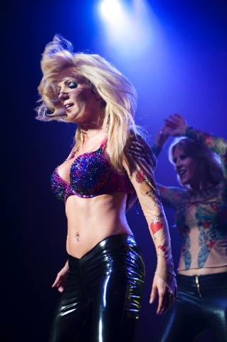 "Katie Murdock performs as Britney Spears in ""Legends in Concert"" at the Flamingo."