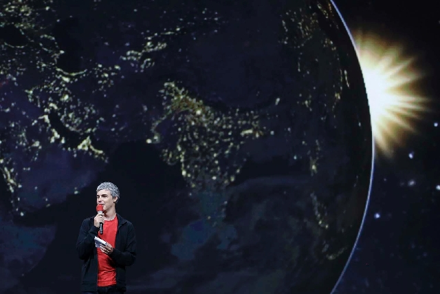Larry Page, Google's co-founder and chief executive, speaks during the keynote presentation at Google I/O 2013 in San Francisco on Wednesday.