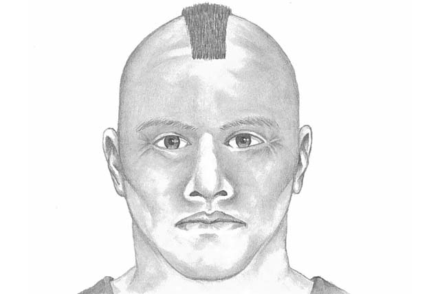 A composite sketch of the suspect.