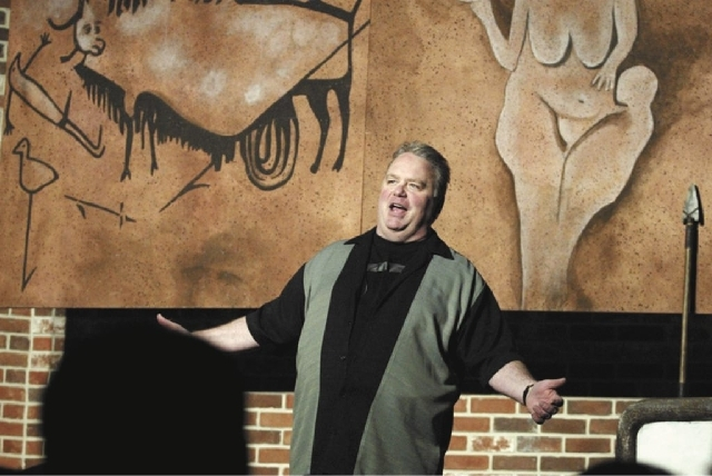 """Kevin Burke, shown here in a 2011 photo, has performed """"Defending the Caveman"""" more than any other actor in the show's history, according to producers."""