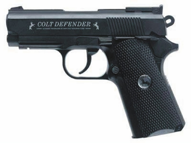 This photo of a Colt .45 Replica pellet gun is similar to one that Las Vegas police say Miguel Martinez possessed when he was shot and wounded by a police officer early Wednesday morning.