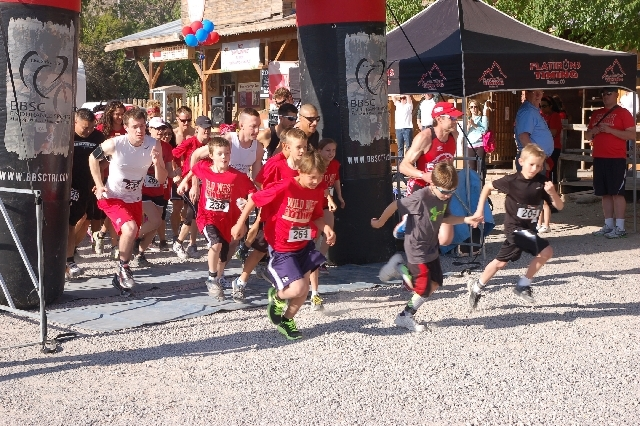 Young runners are first out of the gate April 27 at a charity 5K held at Bonnie Springs Ranch in the Red Rock Canyon National Conservation Area. The event saw approximately 200 runners and raised  ...