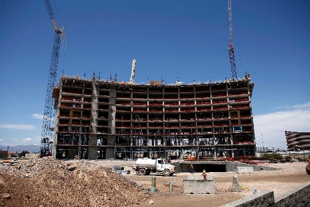 Work has resumed on Wyndham Vacation Resorts' Desert Blue, a 19-story, 281-unit timeshare on Twain Avenue just west of Interstate 15. The 14-acre project was initially scheduled for completion in  ...