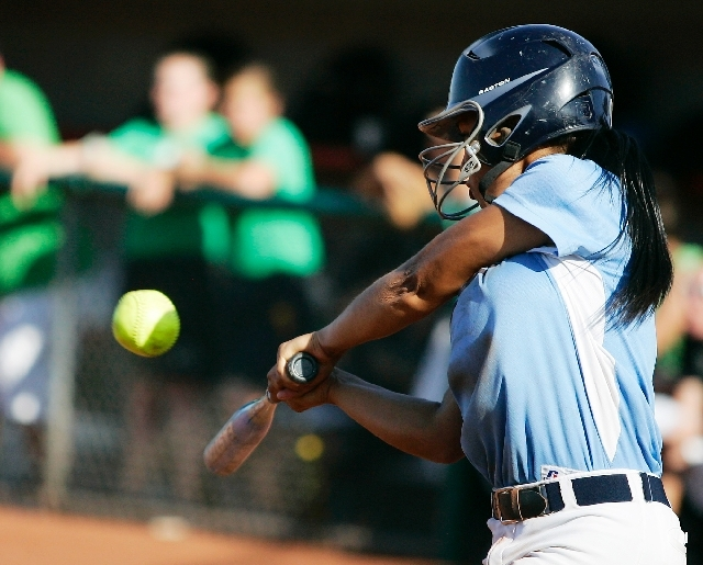 Savannah Horvath connects for a three-run homer in the sixth inning for Centennial in the Bulldogs' 11-2 victory over Palo Verde on Friday.