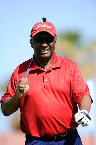 Heisman Trophy winner and former Nebraska star Johnny Rodgers plays in the Level Playing Field Foundation golf fundraiser Saturday at Palm Valley Golf Course in Summerlin.