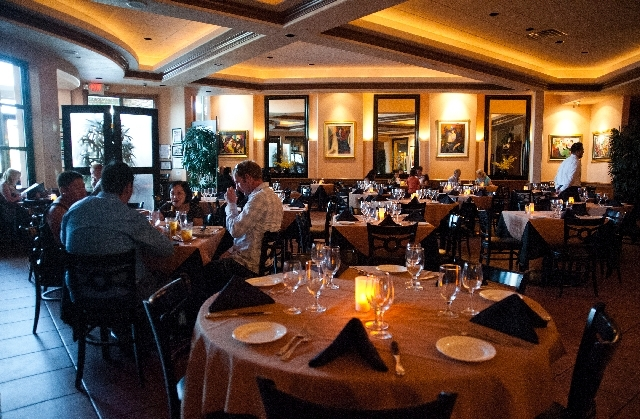 Patrons dine at Gaetano's Ristorante, featuring Italian cuisine, at 10271 S. Eastern Ave. in Henderson.