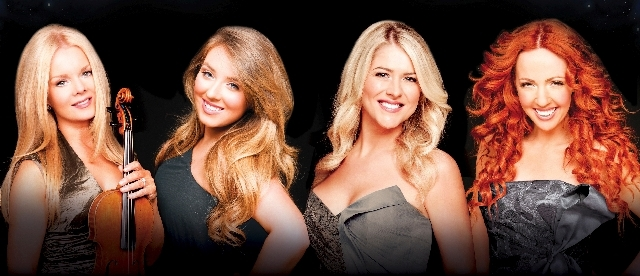 The Irish music ensemble Celtic Woman includes, from left, Mairead Nesbitt, Chloe Agnew, Susan McFadden and Lisa Lambe.