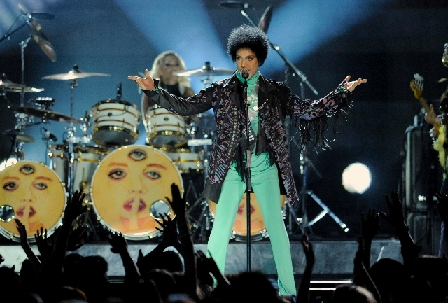 Prince ends the Billboard Music Awards show on Sunday at the MGM Grand Garden .