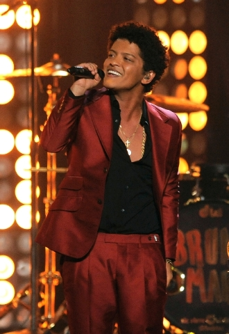 Bruno Mars summoned the spirit of the Jackson 5 in his performance Sunday at the Billboard Music Awards at the MGM Grand Garden.