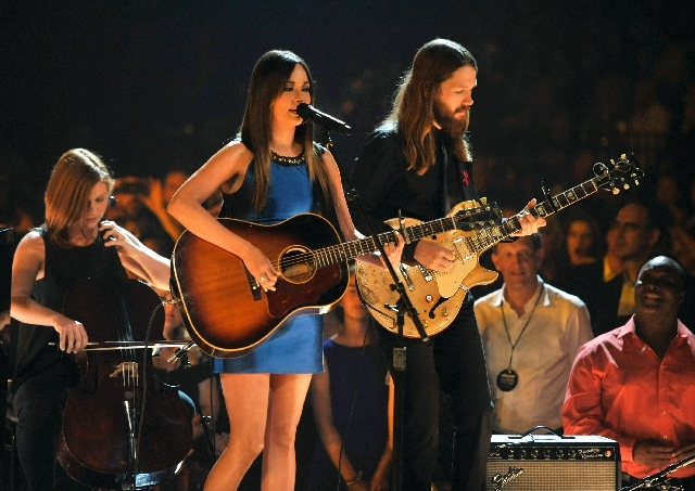 Kacey Musgraves, center, performs Sunday at the Billboard Music Awards.
