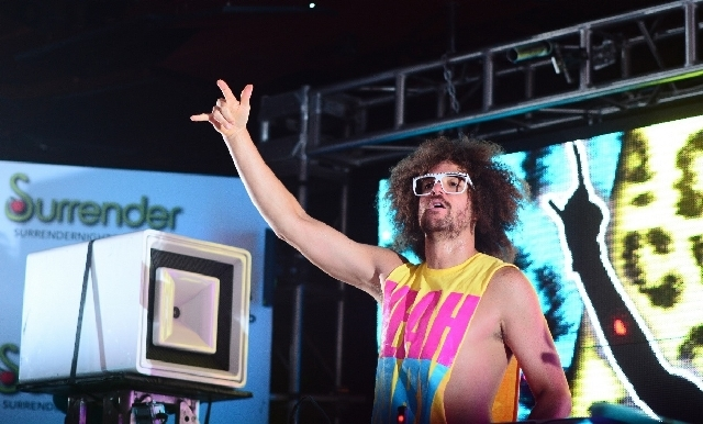 Redfoo DJ'd Thursday at Encore's Surrender nightclub.
