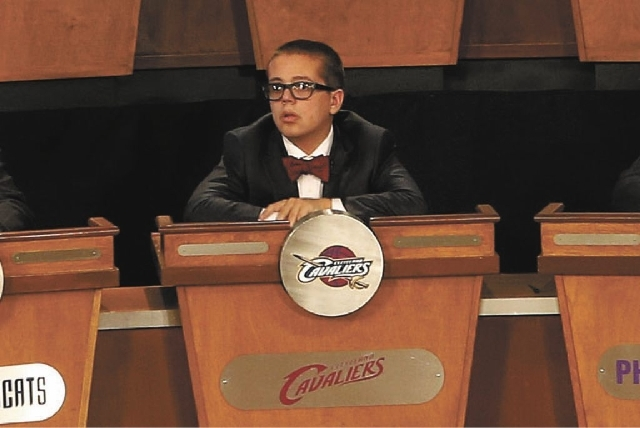 Nick Gilbert, son of Cleveland Cavaliers owner Dan Gilbert, represents his father's team at the NBA Draft lottery on Tuesday.