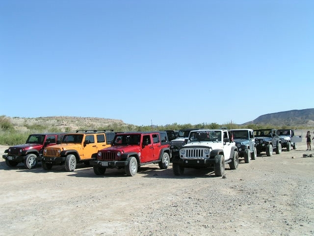 The end result of the Desert Wranglers Jeep Club's cleanup effort was a pickup load of debris that included a flat-screen television, carpet segments, broken lawn chairs, glass and plastic bottles.
