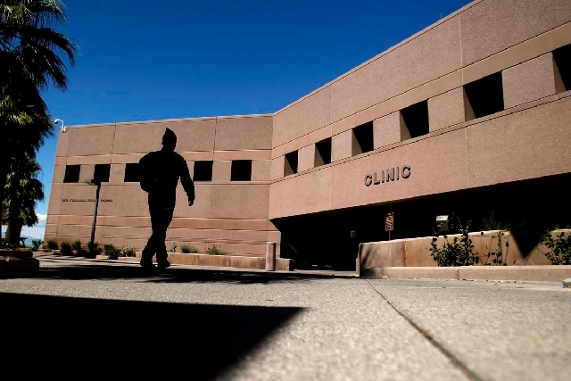 """A """"completely harmless"""" box prompted the temporary closure of the O'Callaghan Federal Hospital on Thursday as a Nellis team investigated the scene. The hospital is shown here in a Sept. 22, 2011 f ..."""