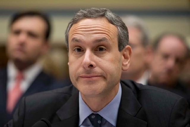 Former IRS Commissioner Douglas Shulman pauses during an Oversight Committee hearing on Capitol Hill in Washington on Wednesday to investigate the extra scrutiny IRS gave to Tea Party and other co ...